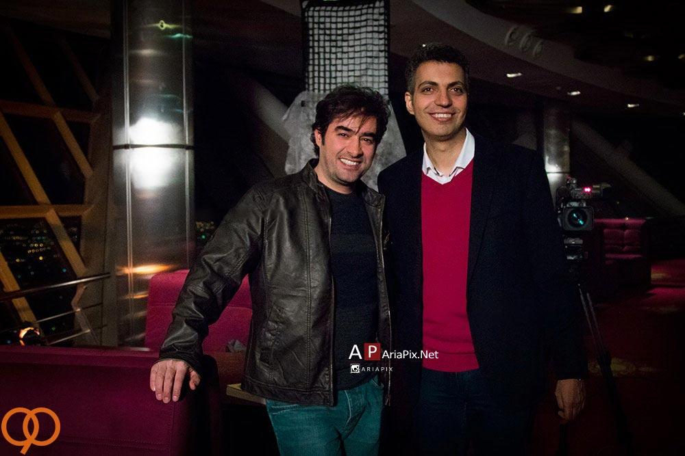 عکس یادگاری عادل فردوسی پور و شهاب حسینی در برنامه نود