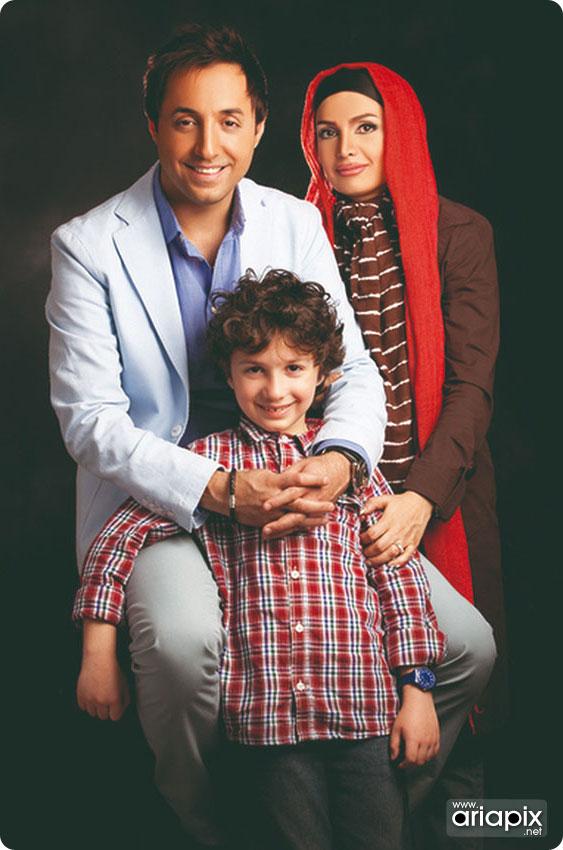 جدیدترین عکس امیرحسین رستمی و همسرش و پسرش ارشیا