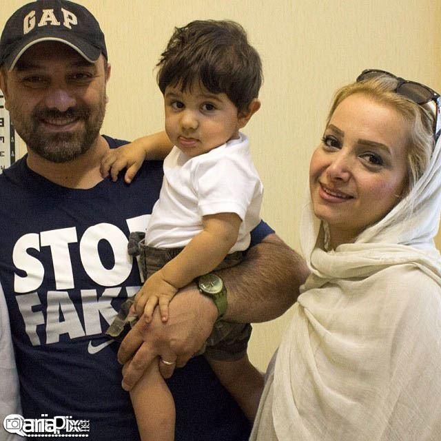 برزو ارجمند و همسرش و پسرشان