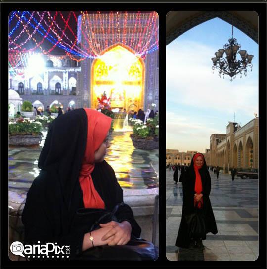 مهراوه شریفی نیا در مشهد حرم امام رضا (ع) / عکس