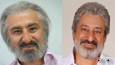محسن تنابنده عکس / گریم محسن تنابنده در نقش ابی