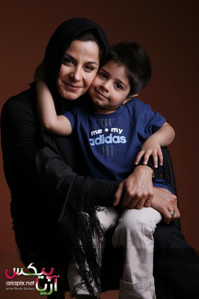 سیما تیرانداز,عکسهای جدید سیما تیرانداز بازیگر زن ایرانی,سیما تیرانداز و پسرش