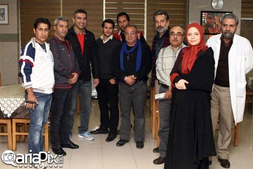 احمدرضا عابد زاده فوتبالیست در سکانس های پایانی سریال آوای باران