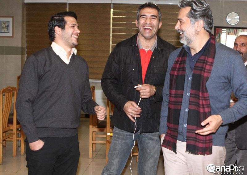 عکس / احمدرضا عابد زاده,سیاوش خیرابی و حمید رضا پگاه پشت صحنه آوای باران