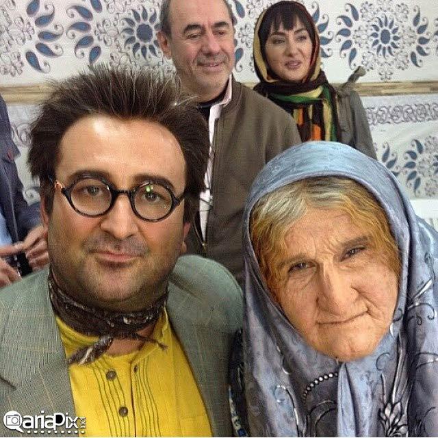 سریال ابله, گریم محسن تنابنده در سریال ابله, پشت صحنه ابله, پیرزن ابله