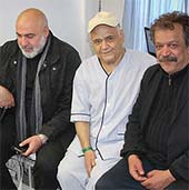 عیادت بازیگران از اکبر عبدی