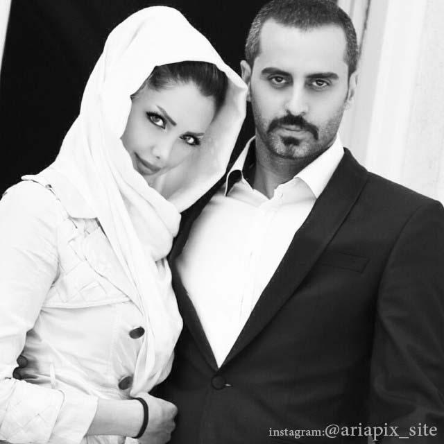 علیرام نورایی و همسرش