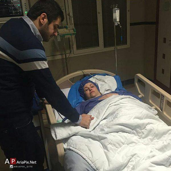 بیماری مادر علی ضیا, مادر علی ضیا در اتاق عمل, بستری شدن مادر علی ضیا