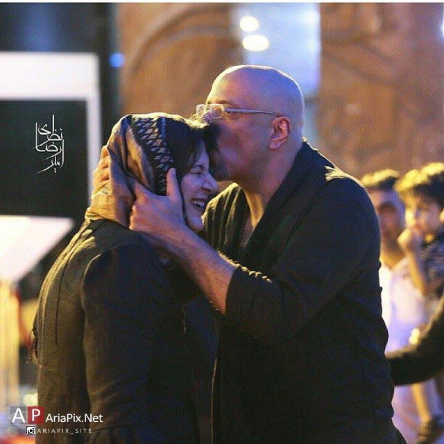ریما رامین فر و همسرش, امیر جعفری و همسرش, بوسیدن ریما رامین فر
