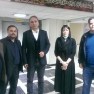 عیادت بازیگران با قربانی اسیدپاشی اصفهان