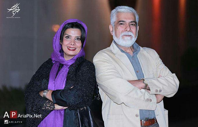 عاطفه رضوی و همسرش حسین پاکدل