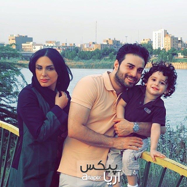 عکس از بابک جهانبخش و همسرش و پسرش آرتا جهانبخش