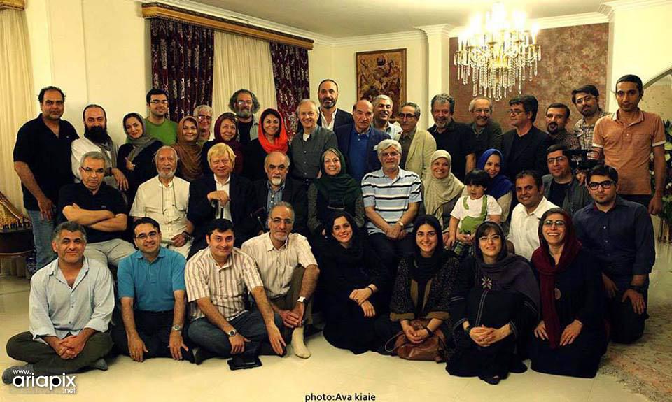 عکس بازیگران با دکتر عارف / خرداد 92