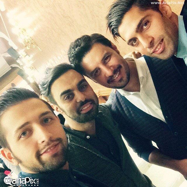 محسن افشانی,جواد عزتی و مهدی ماهانی در جشن عید غدیر 93