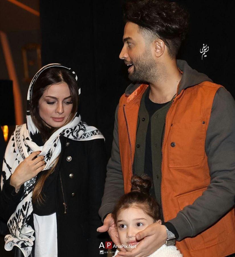 بنیامین بهادری و خانواده اش در اکران مردمی فیلم سلام بمبئی +عکسها