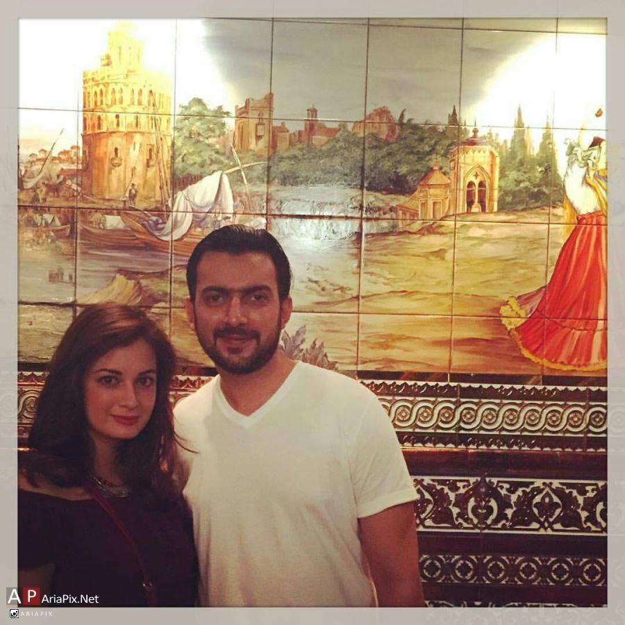 دیا میرزا و همسرش