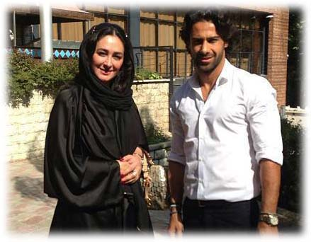 عکس/الهام حمیدی در کنار فرهاد مجیدی بازیکن استقلال
