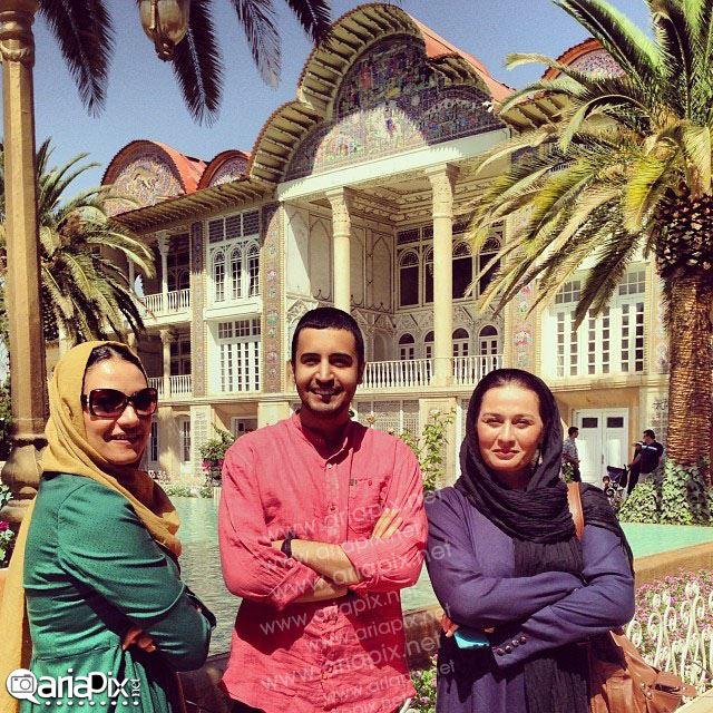 مهرداد صدیقیان, پریوش نظریه و شبنم مقدمی در باغ ارم شیراز