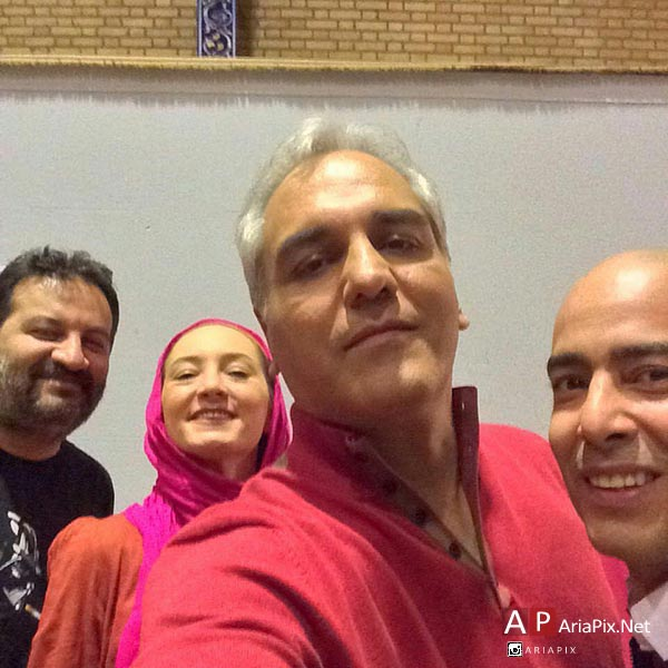 زدن موهای نیما فلاح توسط مهران مدیری در برنامه دورهمی