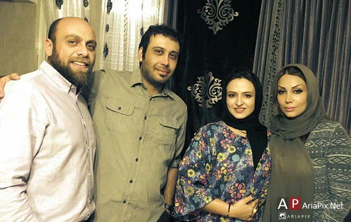 گلاره عباسی و همسرش در منزل محسن چاوشی و همسرش
