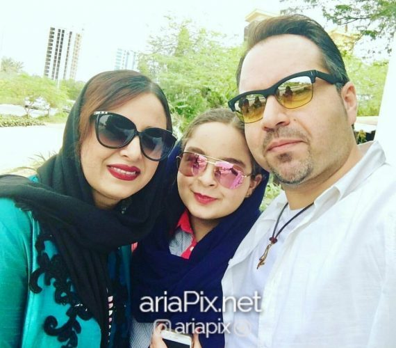 شهرام قائدی و همسرش و دخترش