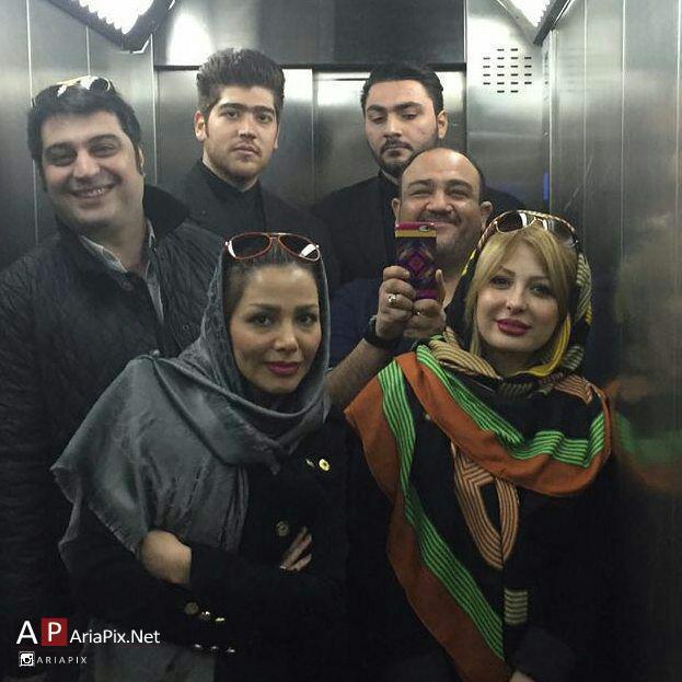 مهران غفوریان و همسرش, نیوشا ضیغمی و همسرش
