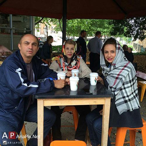 شبنم قلی خانی و مادر و برادرش