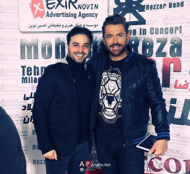 بابک جهانبخش در کنسرت محمدرضا گلزار