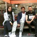 محمدرضا گلزار, مهناز افشار و هومن سیدی در پشت صحنه سریال عاشقانه + عکس