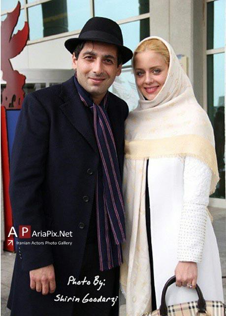 حمید گودرزی و همسرش در برج میلاد