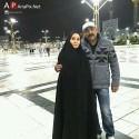 حدیث فولادوند و همسرش رامبد شکرابی در مشهد حرم امام رضا (ع)