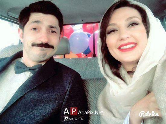 عکس حدیث میرامینی و همسرش مجتبی رجبی