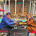 حمید گودرزی در کنار مادرش در اولین روزهای سال +عکس