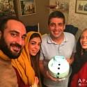 حمید گودرزی در کنار همسر و خواهرش در روز تولدش + عکس