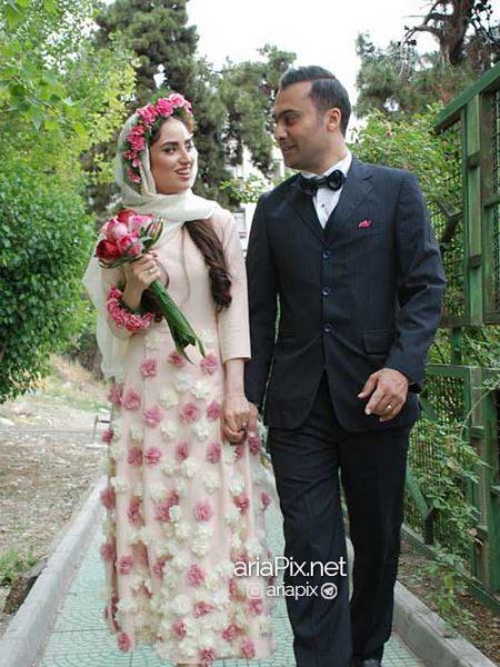 عکس هانیه غلامی و همسرش