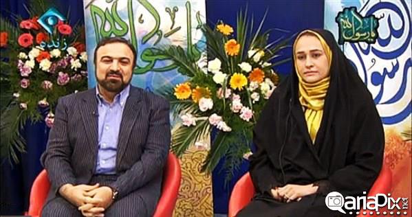 عکس مرتضی حیدری و همسرش مرتضی حیدری و مجری به همراه همسرش