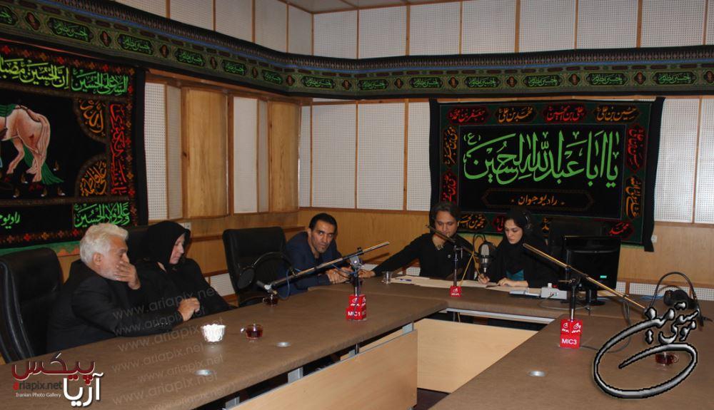 عکسهای خانواده مرتضی پاشایی در رادیو جوان