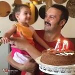 تولد چهل سالگی کامبیز دیرباز در کنار دخترش نیاز + عکس