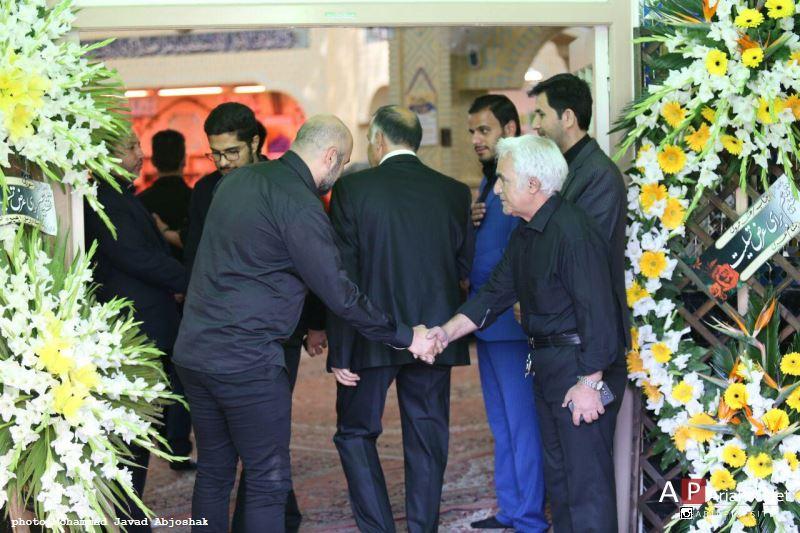 مراسم ختم مادر علی مسعودی