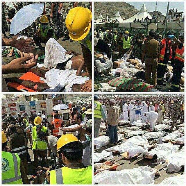 عکس حادثه منا در مکه و کشته شدن زائران و حجاج