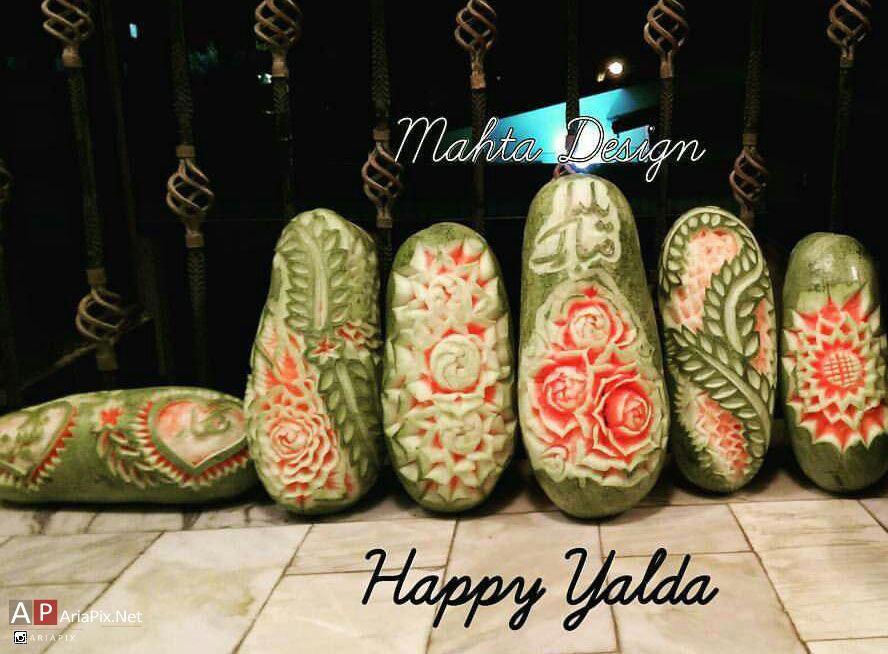 هندوانه شب یلدا , طراحی هندوانه شب یلدا