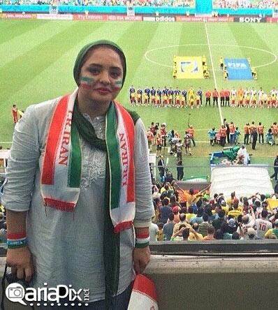 نرگس محمدی, نرگس محمدی برزیل, عکس نرگس محمدی جام جهانی 2014 برزیل, بازیگران در برزیل, ستایش در برزیل
