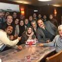 جشن تولد نگار عابدی بازیگر نقش افروز در پشت صحنه پادری + عکس