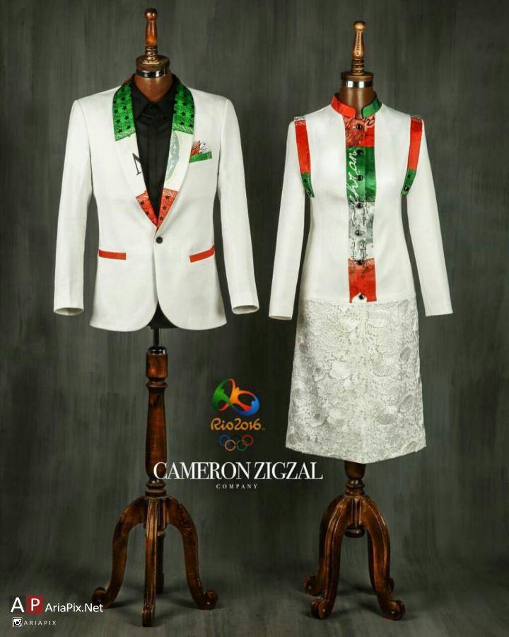 طرح لباس زنانه مردانه ایران برای بازیهای المپیک 2016