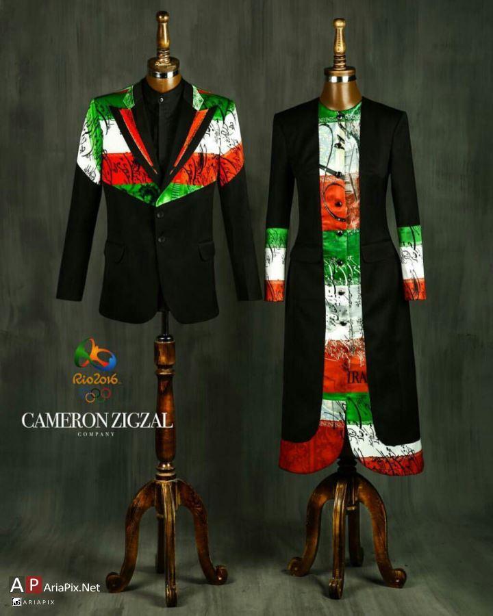 لباس جدید ایران المپیک 2016 طراحی شده توسط کامران بختیاری