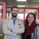 پژمان بازغی و همسرش مستانه مهاجر در حاشیه جشنواره جهانی فیلم فجر