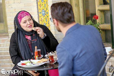 عکس از گفتگو دو بازیگر بهاره رهنما و امین حیایی