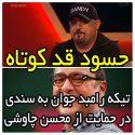 واکنش و تیکه رامبد جوان به سندی در حمایت از محسن چاوشی +ویدیو