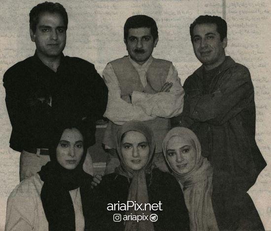 عکسی قدیمی از جواد رضویان در کنار مهران مدیری سیامک انصاری