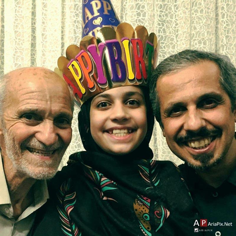 جواد رضویان و دخترش, جواد رضویان و پدرش